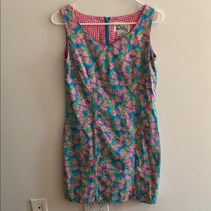 Rare Lilly Pulitzer strawberry print shift dress